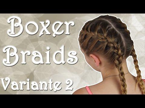 Boxer Braids – Variante 2 – Französischer Zopf || haareflechten