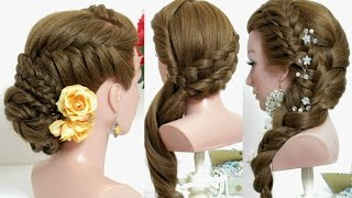 3 hairstyles for long hair tutorial with braids