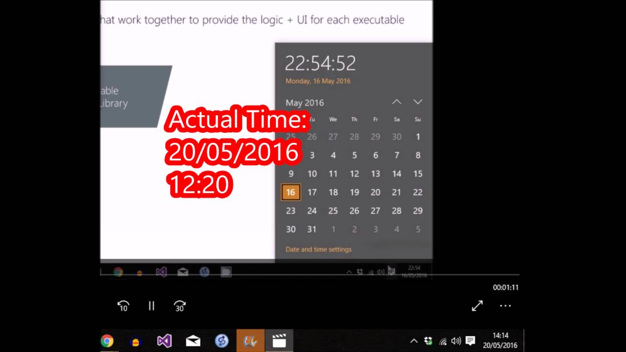 update time and date windows 10