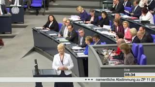 """""""Beschlüsse der CDU nicht das Papier wert"""" – Erika Steinbachs letzte Rede im Deutschen Bundestag"""