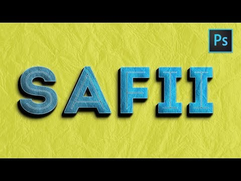 [ Photoshop Tutorials ] 3D Text Effects Adobe Photoshop