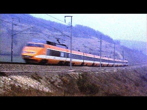 TGV Sud Est en livrée orange 1984 - Cab ride - en cabine de queue