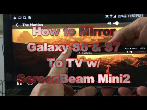 Galaxy S6 S7 Screen Mirror Wirelessly