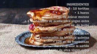 Tortitas de frambuesa – Receta de San Valentín
