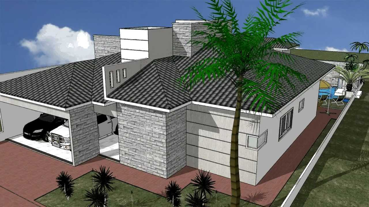 Desenho 3d casa 08 youtube for Casa 3d gratis