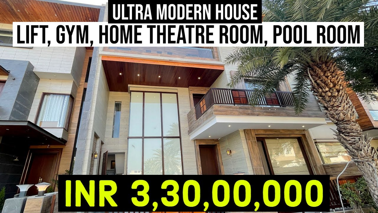 Extraordinary Ultra Modern Design 6000 sq ft Triple Story House With Amazing Interior Work