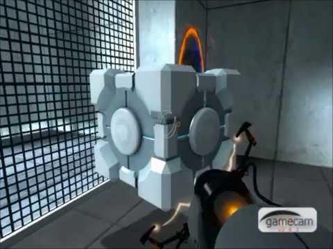 Portal - Saving the companion cube without using cheats