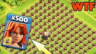 500 Max Valkyrie Vs 500 Max Cannon Amazing Attack On Coc Private Server Funny Gameplay