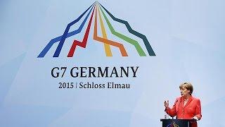 ميركل: مجموعة 7 مستعدة لتشديد العقوبات على روسيا إذا اقتضت الضرورة   8-6-2015