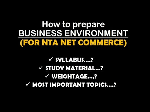 How to prepare BUSINESS ENVIRONMENT unit for UGC NET COMMERCE || Niharika Jaiswal