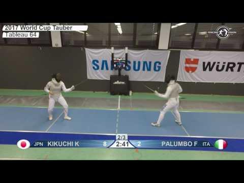 FE F F Individual Tauberbischofsheim GER World Cup 2017 T64 23 Blue KIKUCHI JPN Vs PALUMBO ITA