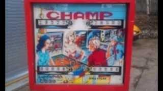 1973 Gottlieb champ pinball machine