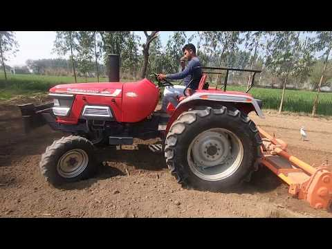 Part - 1 Mahindra 555 tractor average 8 feet in rotavator