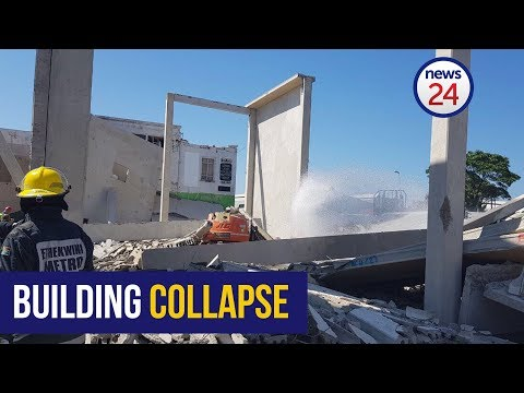Durban building collapse - two trapped under rubble