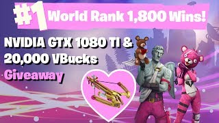 #1 World Ranked 1,790 Solo Wins - GTX 1080TI and 20,000 vbucks giveaway thumbnail