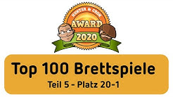Top 100 Brettspiele - Hunter & Cron Award 2020 (Teil 5)