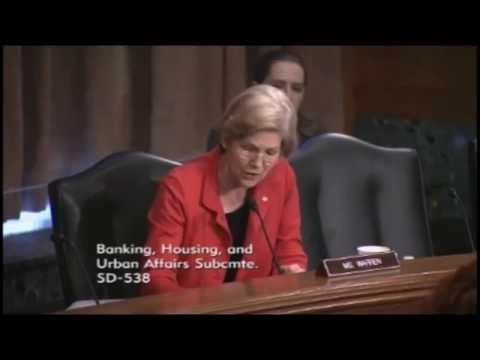 Senator Elizabeth Warren - Should the US Post Office Offer Banking Services
