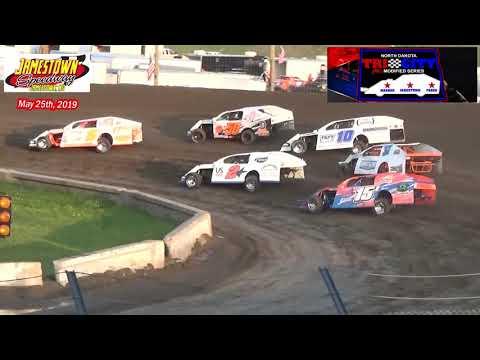 Jamestown Speedway ND Tri-City IMCA Modified Series Heats (5/25/19)