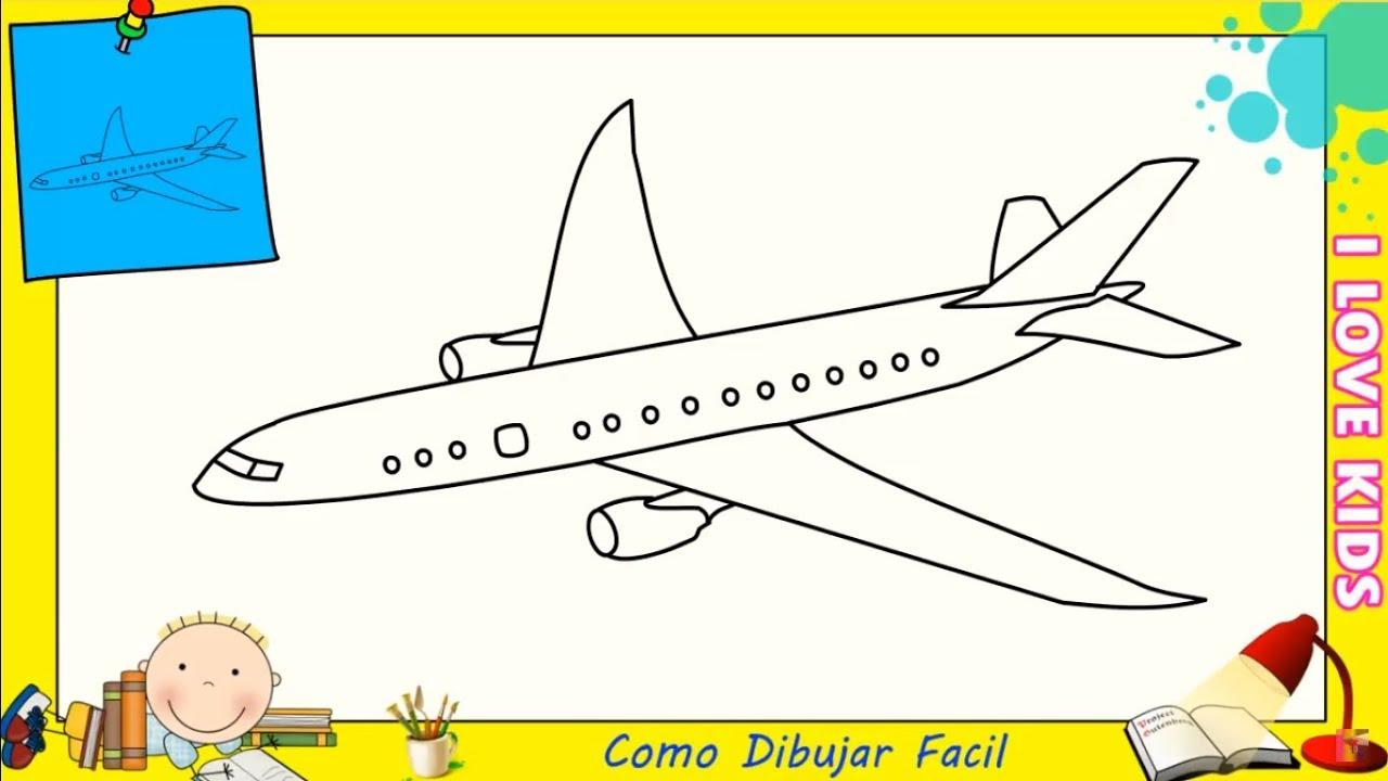 Como Dibujar FÁcil MÉtodo Para Principiantes Y Como: Como Dibujar Un Avion FACIL Paso A Paso Para Niños Y