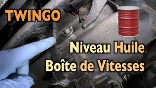 Twingo 🚘 Faire le Niveau d'Huile 🛢 de la Boîte de Vitesses JB1