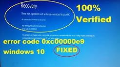 Fix error code 0xc00000e9 windows 10,recovery there was a problem with a device connected to your pc