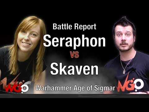 Warhammer Age of Sigmar Seraphon vs Skaven Battle Report