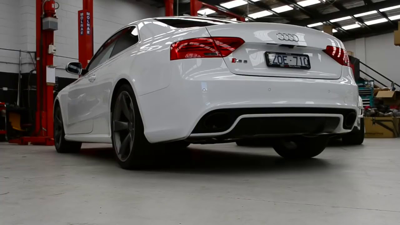 Audi RS5 with ARMYTRIX Cat Back Valvetronic Exhaust!