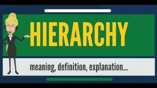 What is HIERARCHY? What does HIERARCHY mean? HIERARCHY meaning - How to pronounce HIERARCHY?