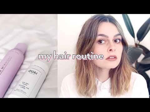 How I Style My Hair   Hair Routine 2018   Lucy Moon