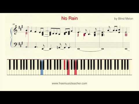"How To Play Piano: ""No Rain"" by Blind Melon Piano Tutorial by Ramin Yousefi"