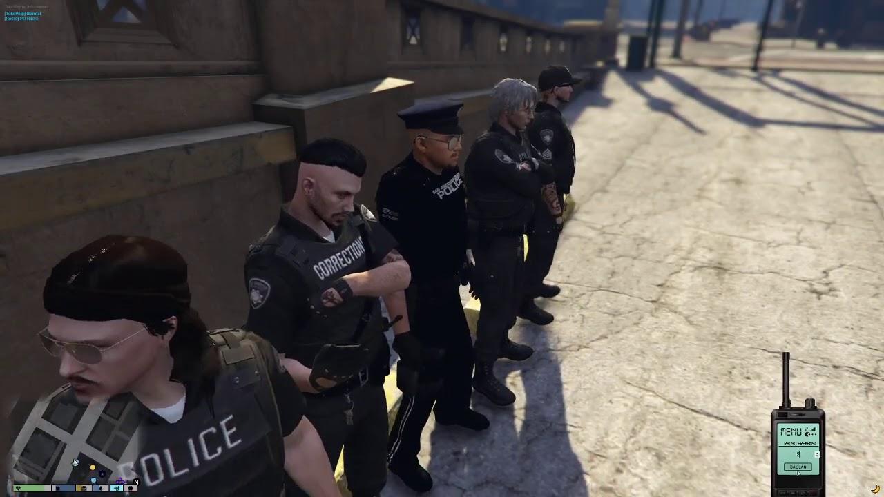 TUGAY GÖK GTA 5 POLİSLİK GÖREVİ PART 16 (tugay polisleri içtimaya çekiyor)
