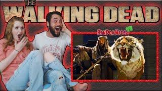 reaction walking dead season 7 episode 2   the well   shiva   amc