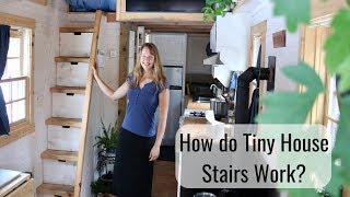 Life In A Tiny House Called Fy Nyth - How Do The Stairs Work?