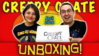 UNBOXING! Creepy Crate April 2018 - Horror Subscription Box