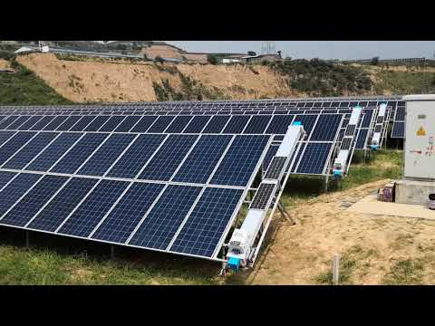 Solar panel cleaning robot machine from China