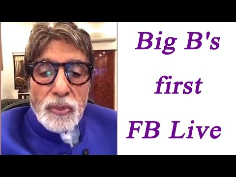 Amitabh Bachchan tries hand on Facebook Live for the first time | Oneindia News