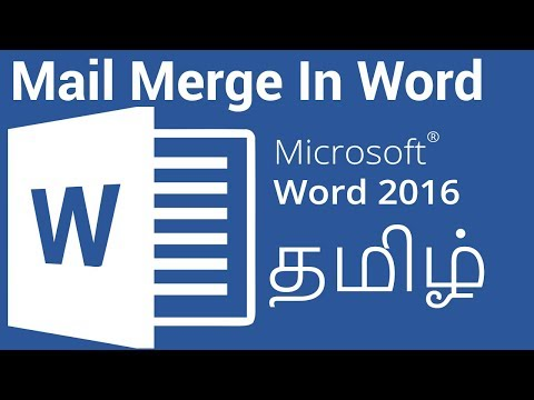 Mail Merge In Microsoft Word In Tamil