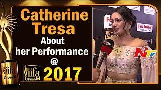 Actress Catherine Tresa about her Sarrainodu Movie Songs Performance @ IIFA Utsavam