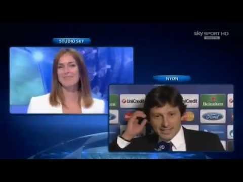 PSG director Leonardo awkward propose on Live TV with English Subtitles