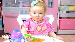 👶� My Reborns! My 1st Reborn Toddler Doll - Julie's Lunch Routine!