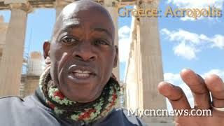 Yombo visits the Acropolis of Athens