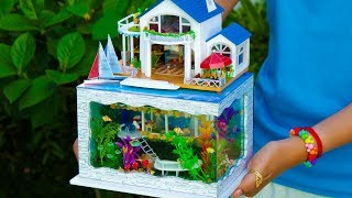 Today, I show DIY Dreamhouse Miniature Doll House. DIY a beautiful Villa with 5 rooms: a Mini bar, a Music room, a Dining room,...