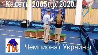 Награждение кадетского чемпионата Украины 2005г р 2020