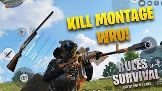 WRO + SMG + AR Kill Montage! 1v5 Fireteam in Rules Of Survival! ( ROS Mobile )