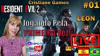 🔴#LIVE RESIDENT EVIL 2 Remake (2019), PC #GamePlay PT-Br 01 - Minha Primeira Vez | Campanha Leon