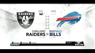 PS3 Gameplay: Madden NFL 12 (Season Week: 2) [Raiders vs Bills]