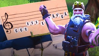 Fortnite - Play the Sheet Music On The Pianos Near Pleasant Park and Lonely Lodge Challenge Guide (S