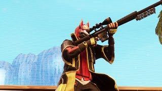TIROS DE FRANCOTIRADOR POR TODOS LADOS: Probando el sniper pesado en Fortnite
