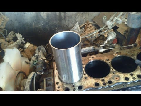 Remove and install the engine cylinder    ISUZU 4BE1 Engine