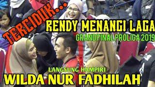 Gambar cover MOMENT RENDY MENANGI LAGA LANGSUNG HAMPIRI WILDA . GRAND FINAL PROLIGA 2019
